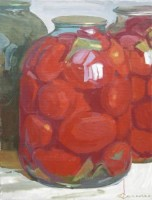 Large tomatoes, 2008, oil on canvas, 80x60