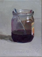 Small jar of jam with the spoon, 2006, oil on canvas, 23h18
