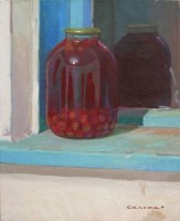 Сherry compote, 2007, oil on canvas, 60x50