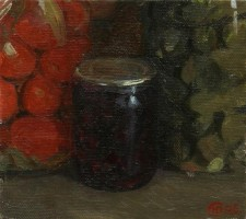 The situation on the shelf, 2007, oil on canvas, 25x30