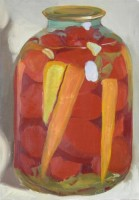Tomatoes and carrots, 2007, oil on canvas, 80x60