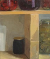 The situation on the shelf, 2007, oil on canvas, 60x50