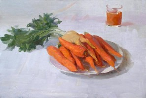 Carrot juice, 2007, oil on canvas, 50x70