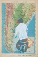 Argentina and S.Chile, 2012, paper, offset print, acrylic, 37,3Х25,3